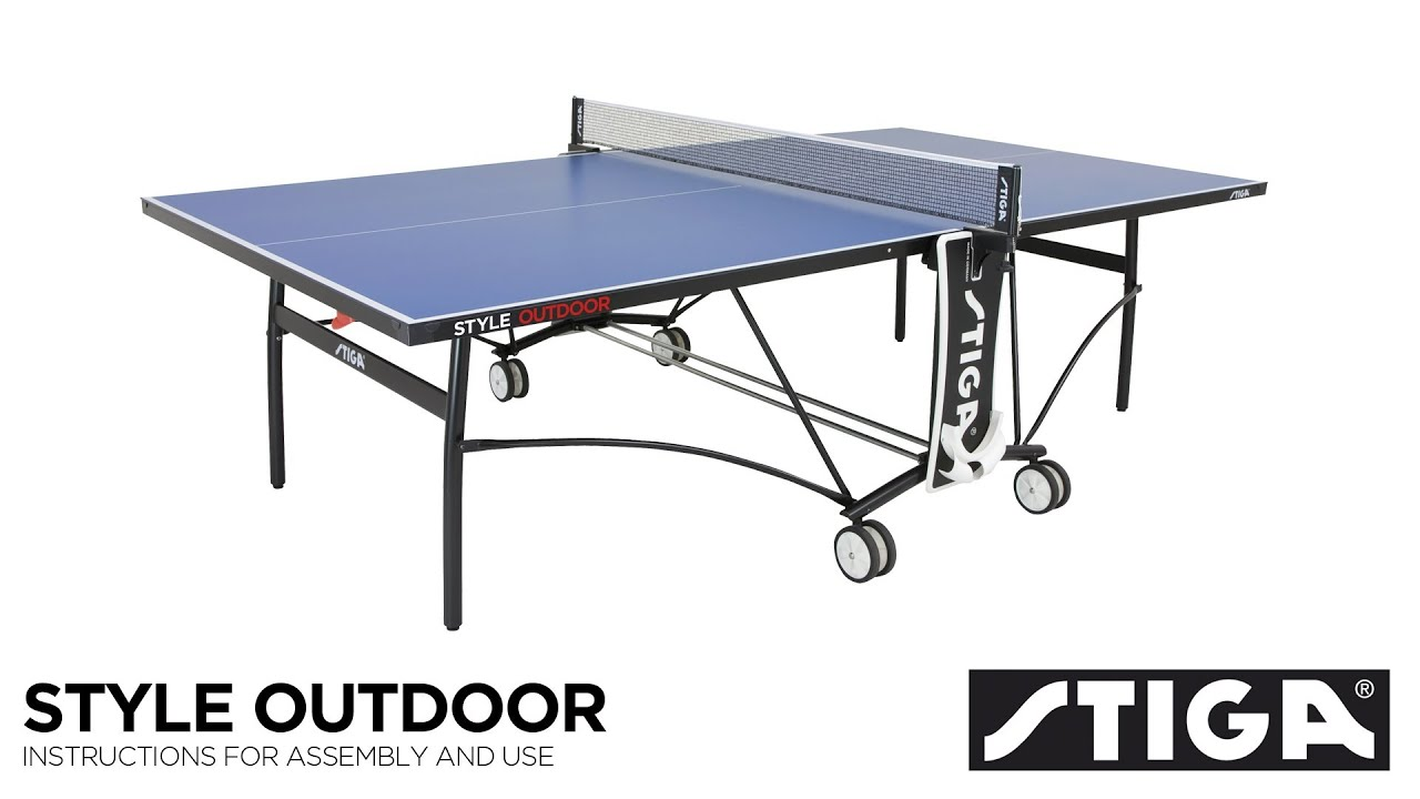 wilson ping pong table assembly instructions