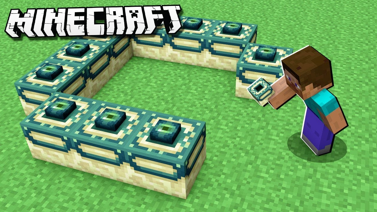 Minecraft how to make a end portal in creatif