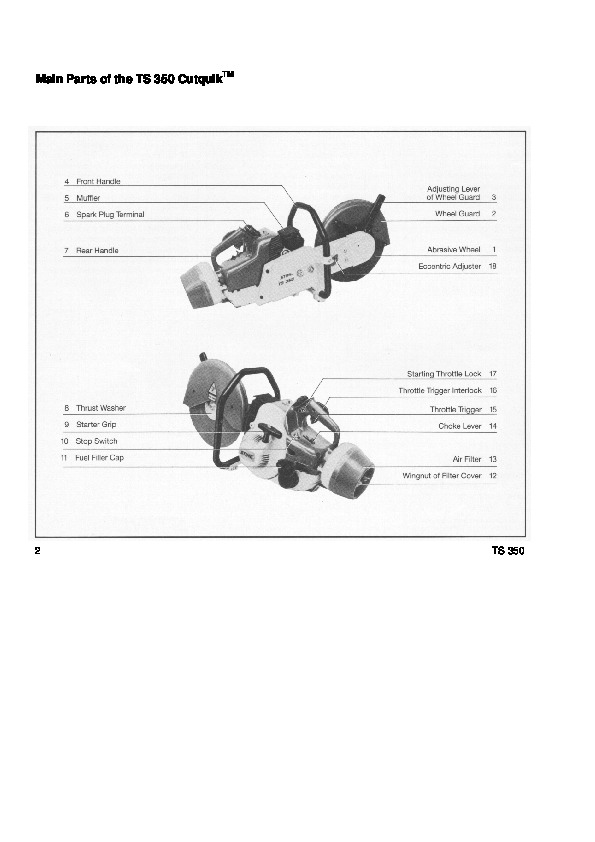 Stihl cut off saw manual