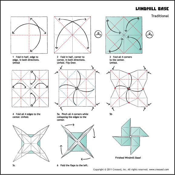 instructions origami de base