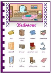 In my house picture dictionary