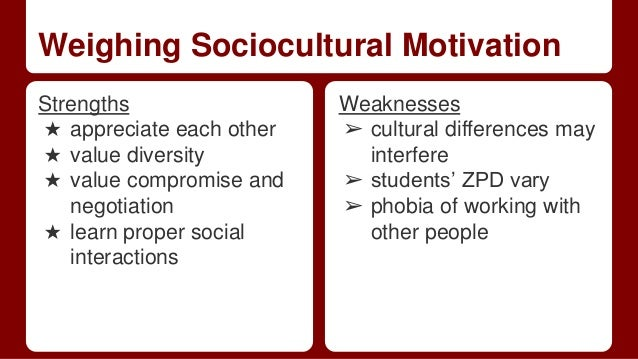 Strengths and weaknesses of sociocultural theory pdf