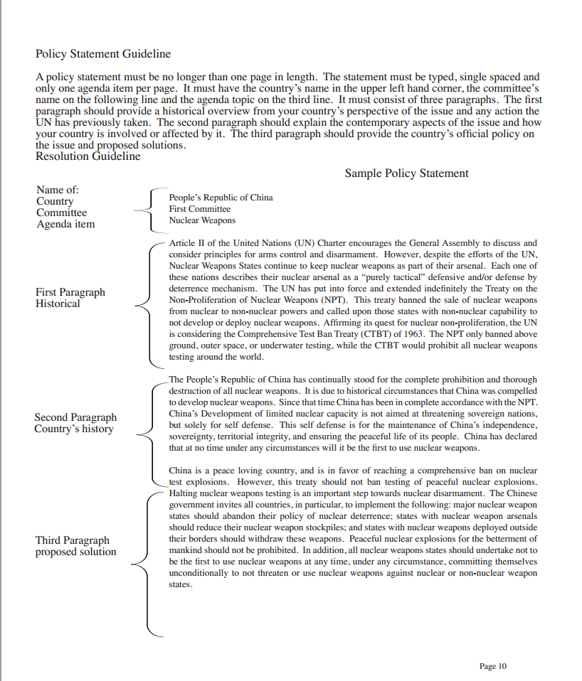 Example of position paper pdf