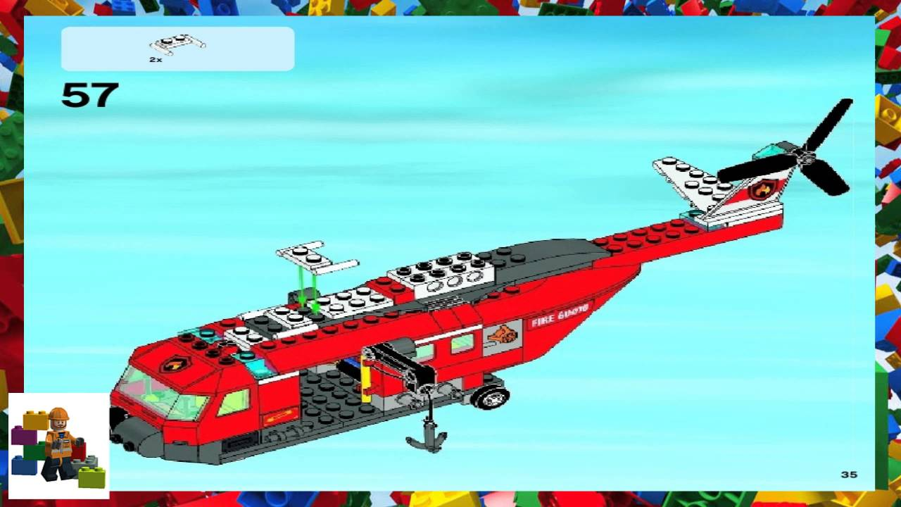 lego fire helicopter instructions 60010