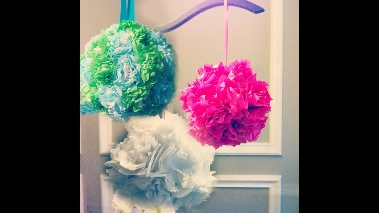 tissue paper flower balls instructions